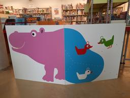 Claire Garralon, 2 paravents canards et hipopotame : exposition   Garralon, Claire (1963-....)